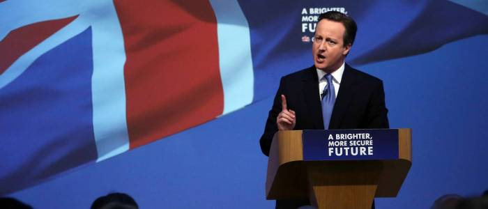 U.K. Prime Minister And Leader Of The Conservative Party David Cameron Launches Party's General Election Manifesto