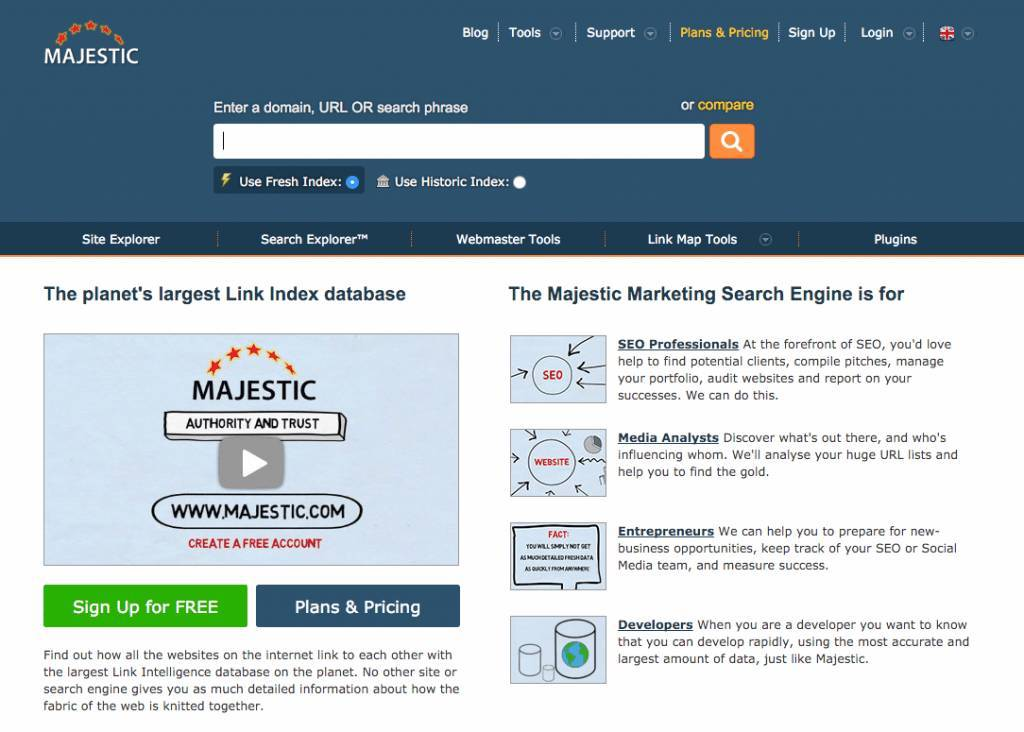 Award winning search analysis and SEO tool